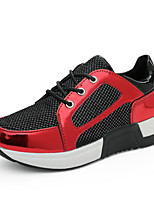 Women's Sneakers Spring / Fall Comfort PU Casual Flat Heel  Red / Gray Sneaker