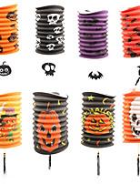 5pcs lanternes de citrouille télescopiques lanternes de papier cylindrique Halloween accessoires décorations fournitures