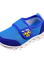 Girl's Sneakers Summer Comfort / Round Toe Tulle Athletic Flat Heel Others / Hook & Loop Blue / Green / Pink