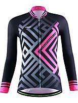 Deportes Maillot de Ciclismo Mujer / Unisex Mangas largas BicicletaTranspirable / Secado rápido / Permeabilidad a la humeda / Bolsillo