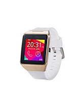 Gold Case White Band Hd Camera Bluetooth Smart Card Can Call Intelligent Wearable Watch