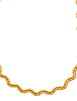 Fashion Suitable for men and women Jewelry Choker Necklaces High Quality 18K Gold Plated Jewelry Wholesale N50054