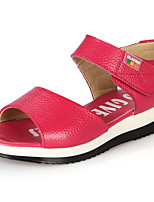 Girl's Sandals Summer Sandals / Open Toe Leather Casual Flat Heel Others Pink / White / Fuchsia Others