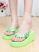 Women's Slippers & Flip-Flops Summer Slingback PVC Casual Flat Heel Others Black Green Beige Fuchsia Others