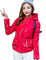 Spring/Winter Women's Fashion Casual Appointment Cute Hooded Long Sleeve Padded Coat Blue/Pink/Red/White/Black/Yellow