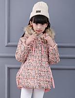 Piumino e giubbino di cotone Girl Casual Con stampe Cotone / Rayon Inverno / Autunno / Primavera Rosa