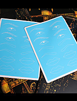 10 Pcs Blue Makeup Practice Skin 15*20cm for Lips Eyebrow Eyeliner Fake Skin Cosmetic Tattoo Accessories