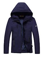 Men's Long Sleeve Casual / Work / Formal / Sport / Plus Size JacketPolyester Patchwork Black / Blue