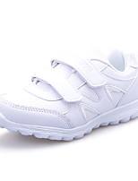 Unisex Sneakers SpringWinter Comfort Leather Outdoor / Athletic / Casual Flat Heel Hook & Loop White Sneaker