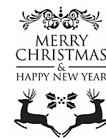 Merry Christmas Wall Stickers New Vinyl Run Deers Removable Windows Wall Stickers Paper Decal Room