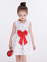 Girl's Casual/Daily Polka Dot DressCotton / Polyester Summer / Spring White