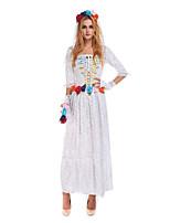 Costumes de Cosplay / Costume de Soirée Cosplay Fête / Célébration Déguisement Halloween Blanc Couleur Pleine Robe / Plus d'accessoires