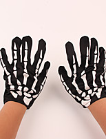 Props Decorate Halloween Costume Party Terrorist Skeleton Ghost Glove Cloth Gloves