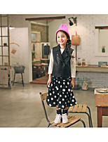 Girl's Casual/Daily Polka Dot Dress / SkirtPolyester Spring / Fall Black