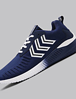 Men's Sneakers Spring Fall Comfort Fabric Outdoor Casual Flat Heel Lace-up Black Blue Gray