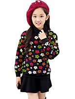 Girl's Casual/Daily Print Sweater & CardiganCotton Winter Black