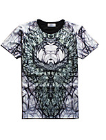 New Fashion Men Retro  Printed Crew Neck Short Sleeve Men 3d T-shirt
