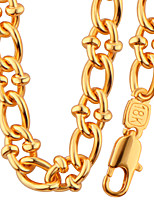 Celebrity Fashion Jewelry Round Design 18K Gold Plated Big Chain Necklace Bracelet For Men High Quality Gift NB60090