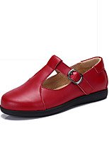 Girl's Flats Spring / Fall Flats Leather Wedding / Outdoor / Party & Evening / Dress / Casual Flat Heel Bowknot