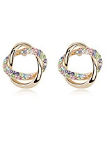 Thousands of colors Earring CircleJewelry 1 pair Fashionable Alloy Gold Daily