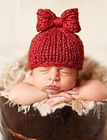 Newborn Prince Vintage Photography Prop Birthday Bowknot Knitting Hat(0-6Month)