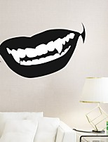 AYA DIY Wall Stickers Wall Decals Halloween Decoration Mouth Type PVC Panel Wall Stickers 25*52cm