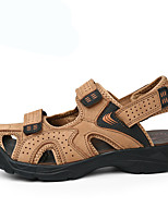 Men's Sandals Summer Sandals / Closed Toe Leather Casual Flat Heel Others Brown / Khaki Others