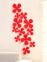 12PCS New Qualified Decoration Circles Creative Stereo Removable 3D DIY A clover  Stickers