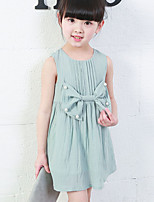 Girl's Casual/Daily Solid DressCotton Summer / Spring Blue / Pink / Beige