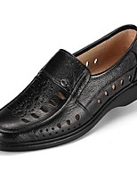 Men's Loafers & Slip-Ons Summer Closed Toe Leather Casual Flat Heel Others Black Others