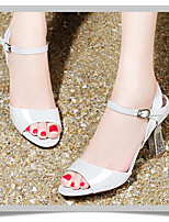 Girl's Heels Summer Platform PU Outdoor Low Heel Others White Orange Others