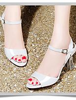 Белый / Оранжевый-Для девочек-Для прогулок-Полиуретан-На низком каблуке-На платформе-Обувь на каблуках