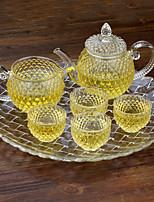 1PC Slap-Up Atmospheric Family Entertainment Glass Tea set Six-Piece Cup Teapot