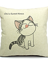 1PC Household Articles Back Cushion Novelty Originality Fashionable Floral Cat Print Prints Pillow Case