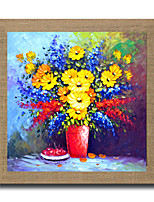High Skills Artist Hand-painted Flower Oil Painting On Linen With Frame Abstract Painting For Office Decoration