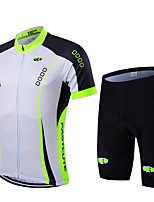 Bike Cycling Tights Padded Shorts Jersey  Bib Shorts Clothing Sets Suits Men's Unisex Short Sleeve Quick Dry