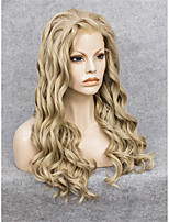 IMSTYLE 10High Quality Long Blonde Wave Black Synthetic Hair Wig Lace Front