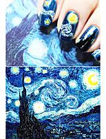 Ван Гог Звездная ночь романтической ногтей наклейки искусства ногтя высокой Quailty инструменты ногтей гель наклейки макияж французский