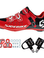 Cycling Shoes Unisex Outdoor / Road Bike Sneakers Damping / Cushioning Red / Black-sidebike
