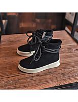 Mädchen-Stiefel-Sportlich-Leder-KeilabsatzSchwarz Khaki