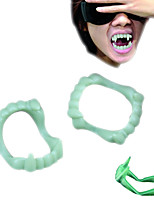 5pcs/lot Luminous Mouth Plastic Teeth Light Flashing Light Up Teeth Party Favors Glow Tooth Halloween Party Decoration