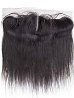 Bolin Hair  7A Cheap Black Hand Tied Straight Middle Part Lace Frontal Medium Brown Swiss Lace Average Cap Size