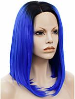 парик шнурка Парики для женщин Синий Карнавальные парики Косплей парики