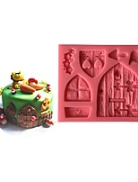 1 Выпечка 3D / Высокое качество / Экологичность / Новое поступление / Украшать торта Торты Пластик Формочки для выпечки