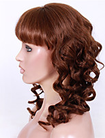 8-12 polegadas braizlian remy virgem do cabelo humano sem cola / rendas frente nova grande onda com perucas estrondo para afro-americanos