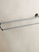 Mirror Polished Finishing Bathroom accessories Brass Material Double Towel Bar