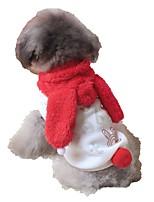 Katzen / Hunde Kostüme / Mäntel / Pullover / Kleider / Smoking / Weste Rot / Rosa Hundekleidung Winter / Frühling/Herbsteinfarbig /