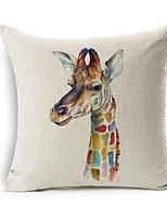 Nordic Giraffe Rhinoceros Zebra Animal Print Cotton Cushion Diy Custom