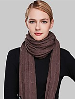 Women Acrylic ScarfCasual RectangleBlack / White / BrownSolid