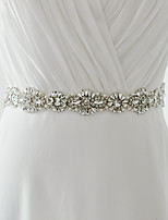 Satin Mariage / Fête/Soirée / Quotidien Ceinture-Billes / Perles / Cristal / Strass Femme 250cm Billes / Perles / Cristal / Strass